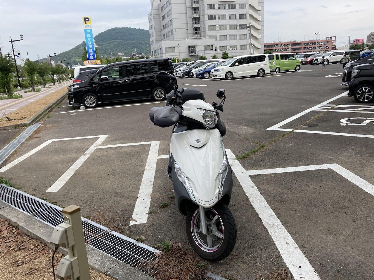 四国水族館 駐輪場